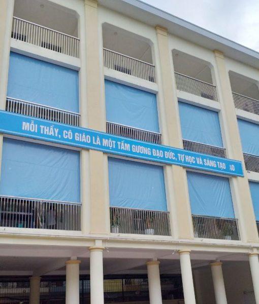 Bạt Mái Che Tự Cuốn Trường Học